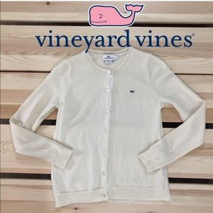 Vineyard Vines 100% Merino Wool Ivory Cardigan